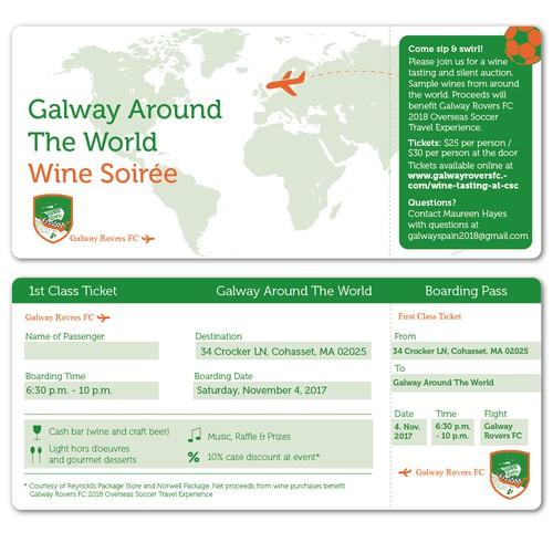 Creative Event Ticket for a Wine Soirée
