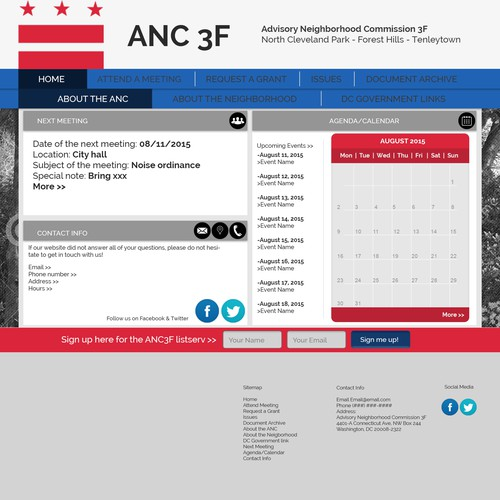 Web design for local government