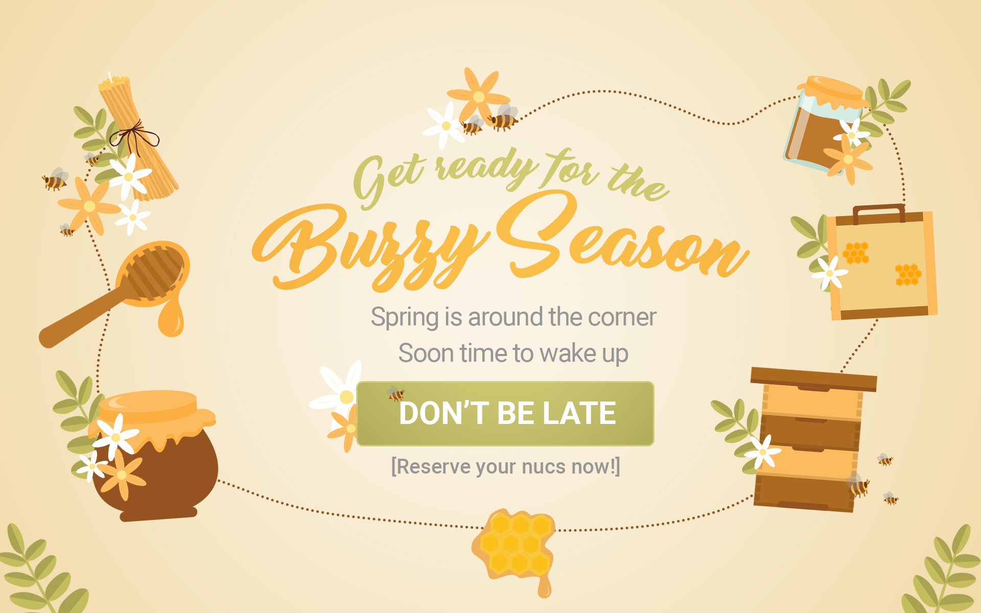 Bee colony to sell - Home Page Slide design, creatives are welcome!