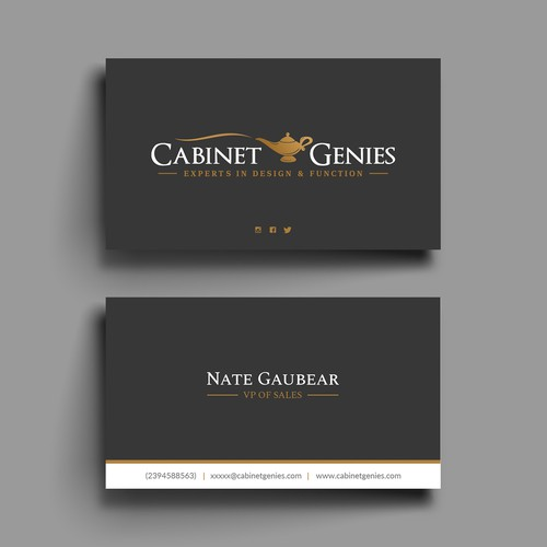 Clean and matching Business card design