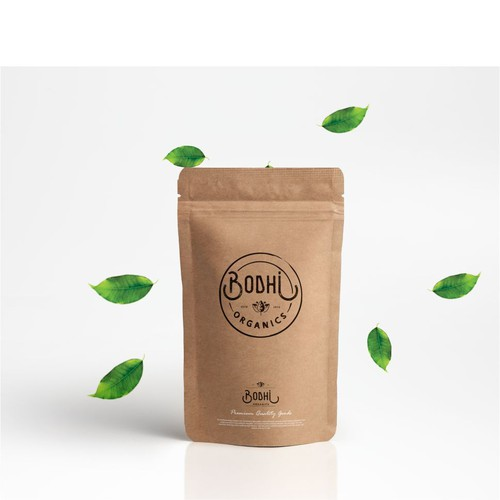 a premium, captivating logo for website selling organic teas and smoothies