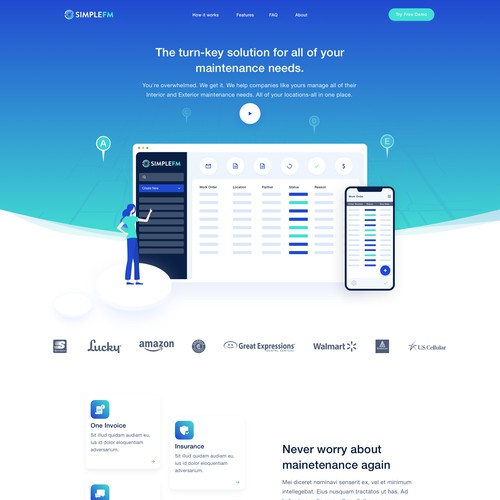 Web Redesign for a management software