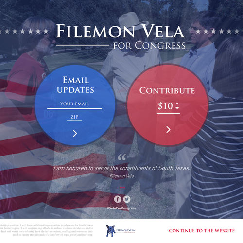 Donation Page for Congressman Election