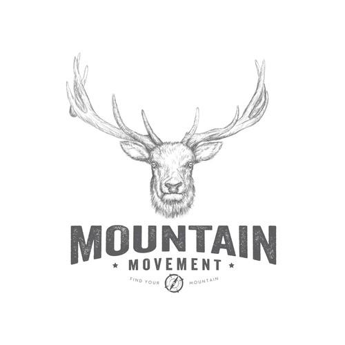 Bold logo concept for MOUNTAIN MOVEMENT