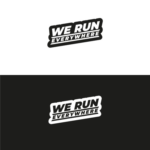 Running Campain Wordmark text logo