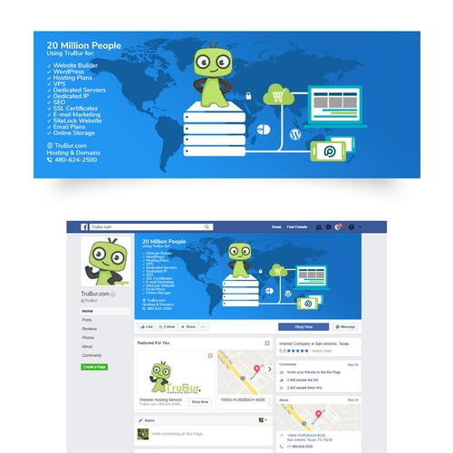 Facebook Cover for Hosting Company