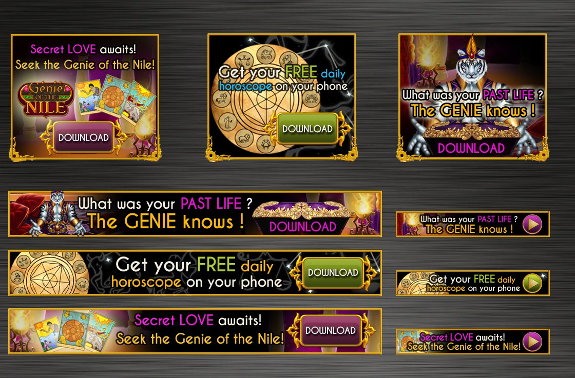 Web banners needed for our smartphone app ads!