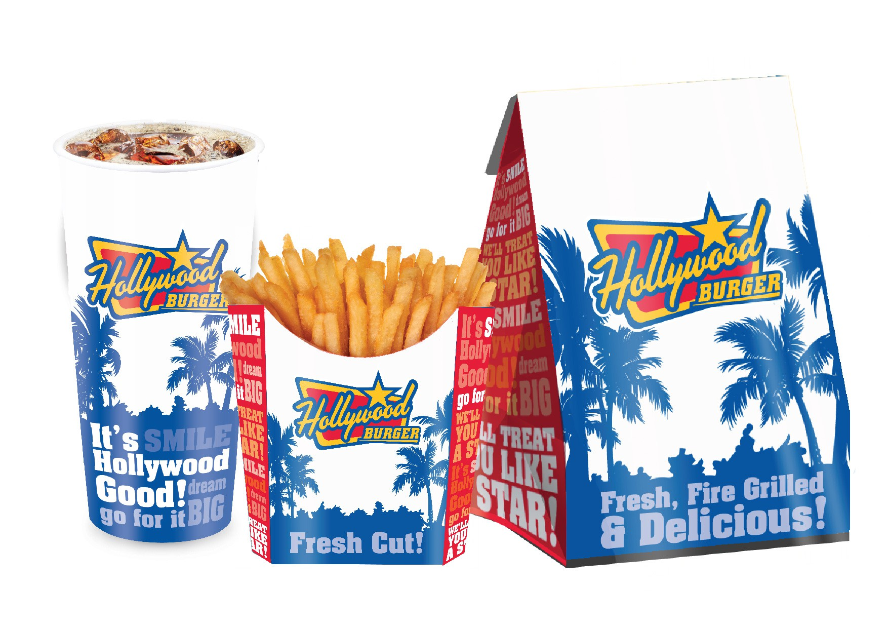 Hollywood Burger Product Packaging!