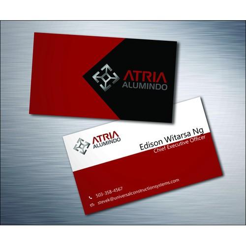 business card for Atria Alumindo
