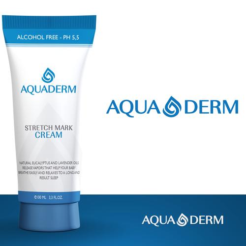 Aquaderm logo design