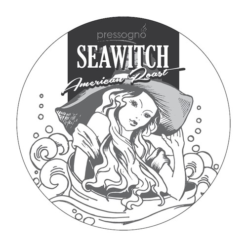 """K-Cup Coffee Lid creation illustrated """"Seawitch"""" Range"""