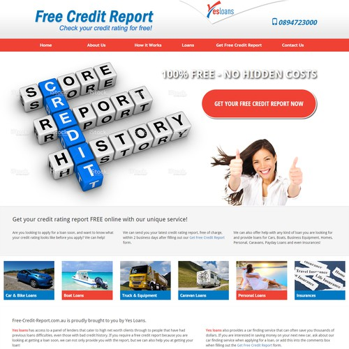 free credit report redesign