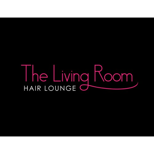Create an inviting feminine, modern, luxurious, urban illustration for The Living Room Hair Lounge