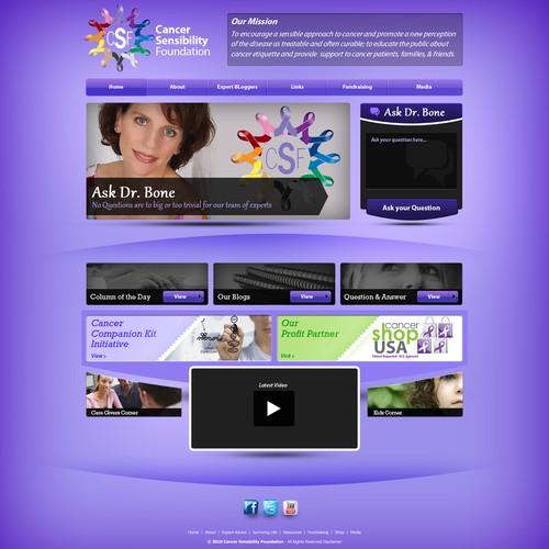 CSF website concept