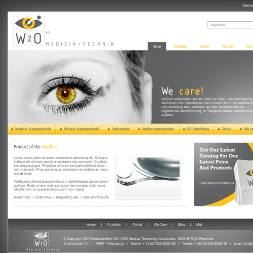 website wanted for medical technology company