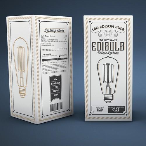 Vintage Packaging for LED Edison Bulb