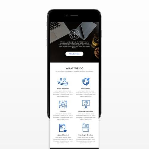 Responsive website design for a company