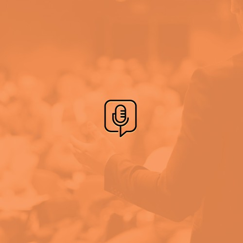 Minimal and simple podcast logo