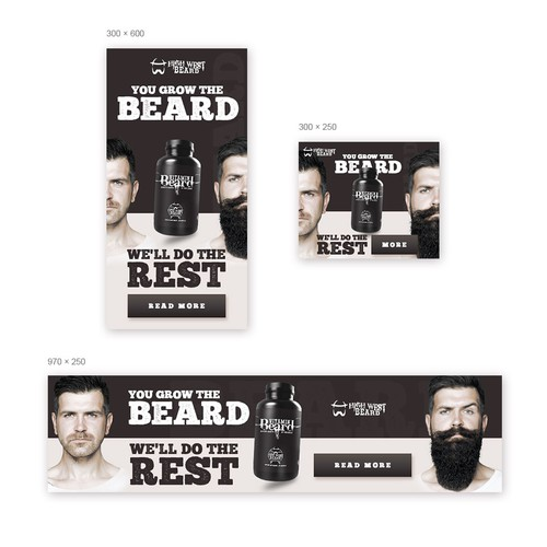Banner ads for beard company.
