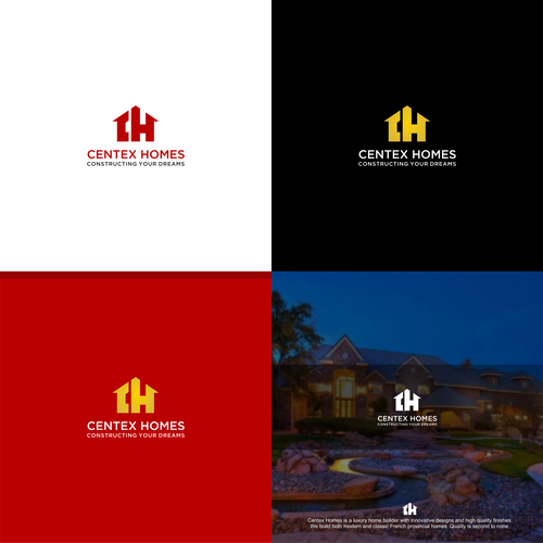 Create a captivating yet elegant logo for luxury custom home builder.
