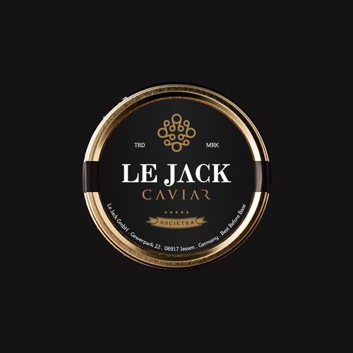 Design a luxury logo for my caviar business: LE JACK CAVIAR