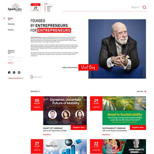 Tech Event Website UI