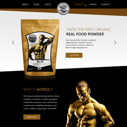 Create a capturing website for the first USDA approved Organic Nutritional Company