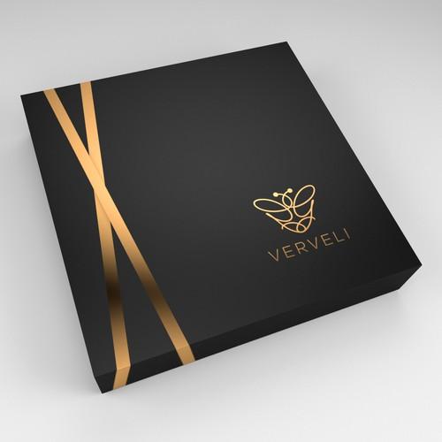 Design a simple luxury packaging brand - VERVELI