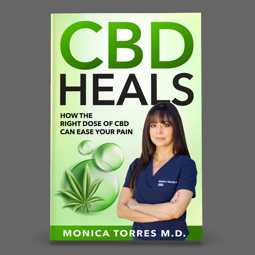 Book Cover Design for inspiring stories of overcoming pain with cannabis !