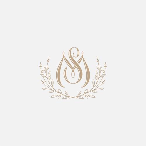 Modern-classic wedding logo concept