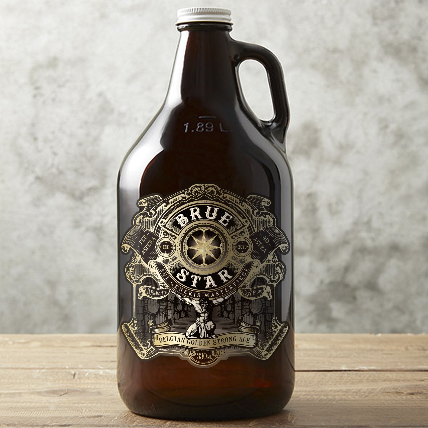 Label for super premium/luxury beer brand