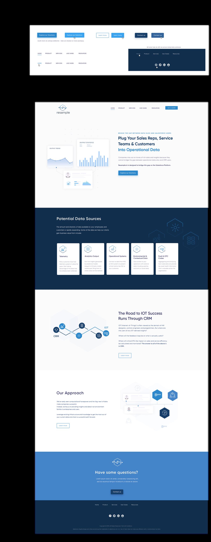 Website for New Analytics Startup