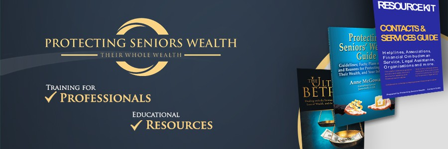 Email banner and Newsletter (Mailchimp) banner or header for Protecting Seniors Wealth