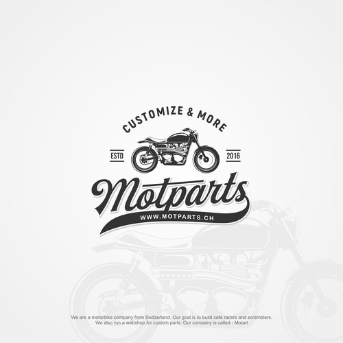 New cool logo for a custom motorcycle company