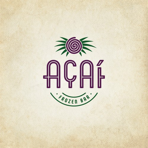 Logo-Design für eine Açaí-Bar