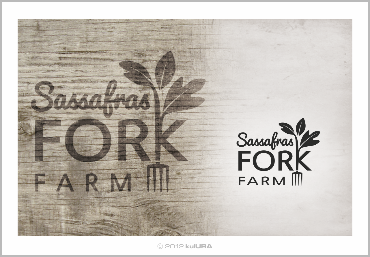 Create the next logo for Sassafras Fork Farm