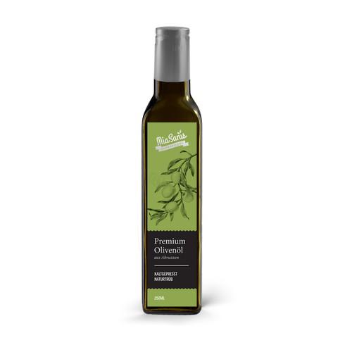 Sophisticated Olive Oil Label Design