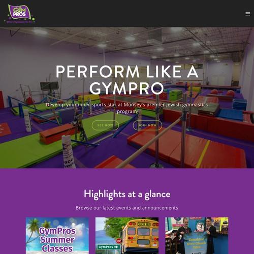 GymPros | Website Design and Development for a Gymnastics Program