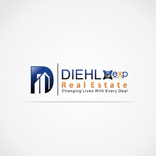 Letter D concept design for real estate and mortgage industry