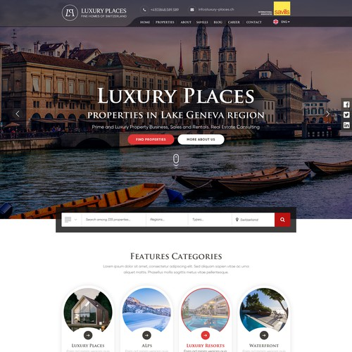 Redesign of Luxury Places website