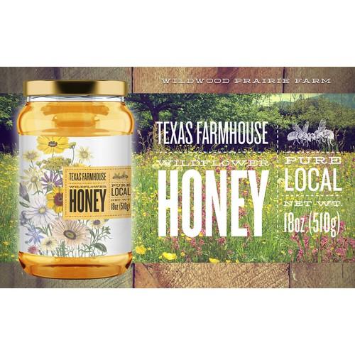 Wildwood Prairie Farm Honey Label