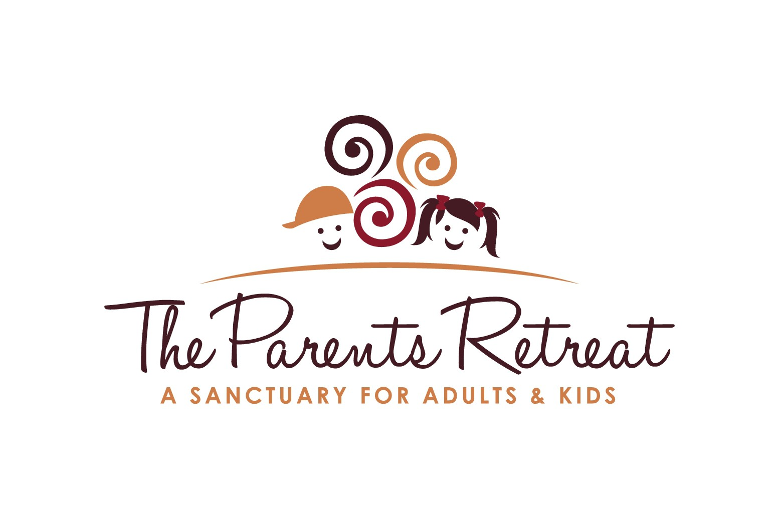 Create a luxurious image with kid-friendly components for a new concept, The Parents Retreat