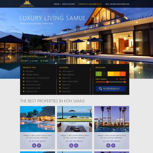 Luxury real estate website design needed