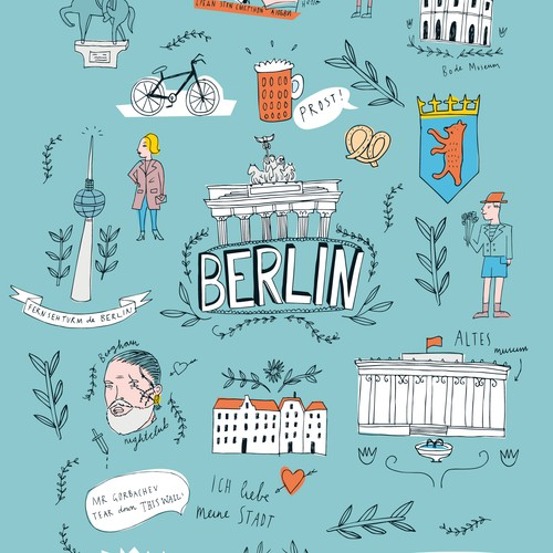 Illustration for 99designs Berlin
