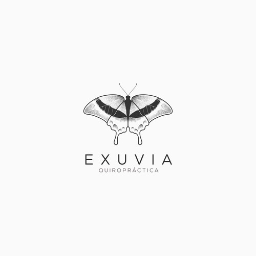 logo beauty butterfly for exuvia