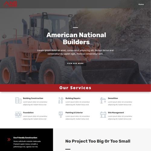 99designs constructions web page
