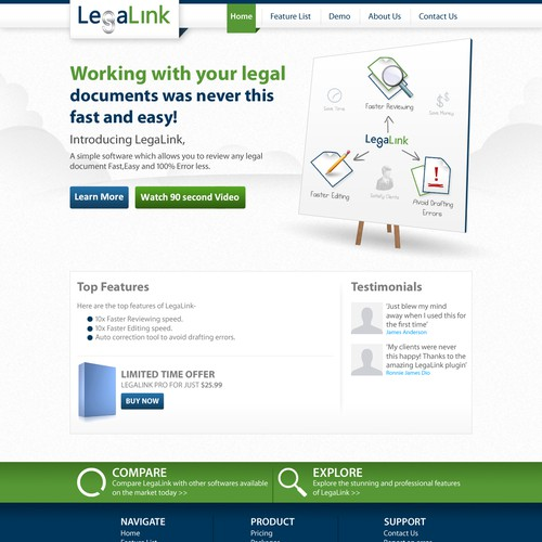 website design for LegaLink