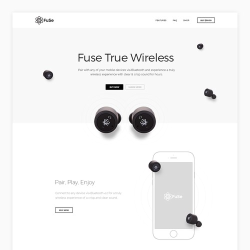 Hero Image Design for Fuse Earbuds