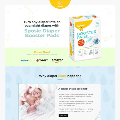 Landing page design for Sposie
