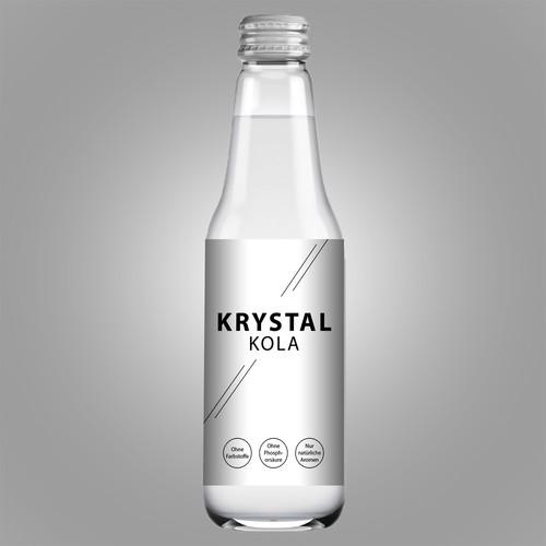Label for a clear coke bottle